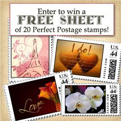 Win a Sheet of Perfect Postage Wedding Stamps (US Postage)