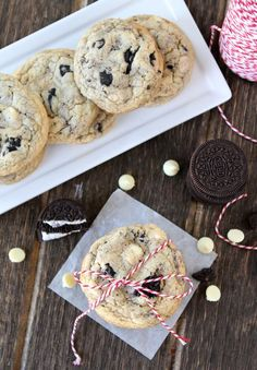 Oreo White Chocolate Pudding Cookies #cookies #recipe #oreo