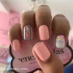 Short Nail Designs, Nail Art Designs, Love Nails, Pretty Nails, Light Pink Nails, Cute Acrylic Nails, Square Nails, Stylish Nails, Perfect Nails