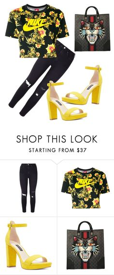 """""""Yellow girl"""" by vilzak on Polyvore featuring NIKE, Nine West and Gucci"""