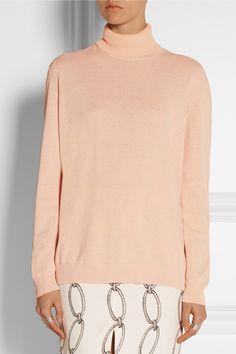 Bottega Veneta|Cotton turtleneck sweaterand Altuzarra skirt