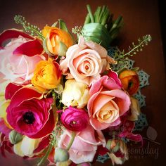 Beautiful bouquet for a summer or spring wedding!     www.botanicaflorist.com