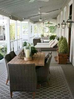Porch set-up ❤❤❤