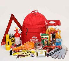Urban Road Warrior Emergency Preparedness Auto Survival Kit. This kit fits most all road emergency situations. All items are packed in a heavy-duty backpack. Kit contains 19 essential items for automobile emergency situations. http://suliaszone.com/urban-road-warrior-emergency-preparedness-auto-survival-kit/