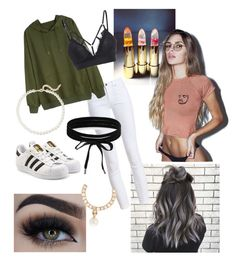 """""""Insta famous"""" by reb-hood ❤ liked on Polyvore featuring Barbour, Eyeko, adidas Originals, Boohoo, Anissa Kermiche and Saks Fifth Avenue"""