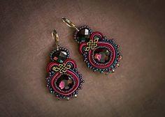 Gift for Father - Custom Jewelry Ideas Mint Earrings, Soutache Earrings, Small Earrings, Unique Earrings, Earrings Handmade, Crystal Earrings, Swarovski, Tassel Jewelry, Jewellery