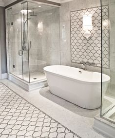 Custom Mosaic Bathroom by Terra Verre, via design ideas decorating before and after interior Bad Inspiration, Bathroom Inspiration, Dream Bathrooms, Beautiful Bathrooms, Luxurious Bathrooms, Bathroom Renos, Master Bathroom, Modern Bathroom, Master Baths