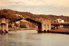 Puente de Deusto, cuando se abría.