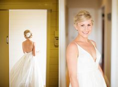 Love the thin straps, love the back, love the neckline.  Pia and Marty's Romantic Perth Wedding