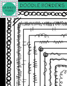 This is a set of 12 doodle borders that will spice up your worksheets and printables!Borders have a transparent background and are for letter-sized paper (8.5 x 11 inches). They are created with hand drawn artwork!All images are in png formats so they can easily be layered in your projects and lesson materials.