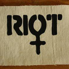Riot Grrrl patch by trainhopping on Etsy