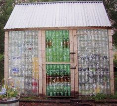 Made entirely of plastic bottles...