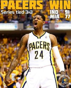 Pacers force a game 7 with the Heat.