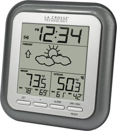 La Crosse Technology WS-9133T-IT Wireless Forecast Statio... 5-1/2 inches wide by 1 inch deep by 5-1/2 inches high; $19.99