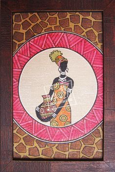 African jungle woman #canvaspainting with 38% discount offers at #craftshopsindia