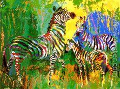 LeRoy Neiman: Zebra Family 2