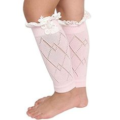 BinmerTMLittle Girl Leg Warmers Children Socks Fashion Straight Tube Boot Cover Pink ** Check out the image by visiting the link-affiliate link.