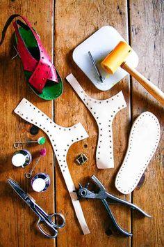making a sandal pattern using lasts