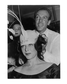 Jacques Fath with Paulette Goddart, 1952