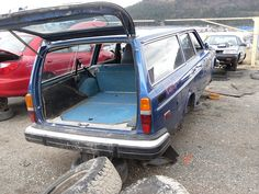 Volvo 245 in BC junkyard (from 1976)