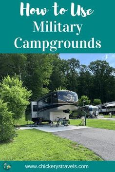 Learn Tips and Tricks for Using Military Campgrounds. They are a great option for active and retired military, as well as 100 DAV and DOD civilians. These campgrounds and RV parks are often in great locations, with many amenities. Solo Camping, Rv Camping Tips, Camping Supplies, Camping Essentials, Tent Camping, Campsite, Outdoor Camping, Camping Stuff, Camping Activities