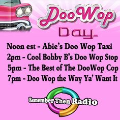 Remember Then Radio - DooWop Friday - http://rememberthenradio.com/   http://tunein.com/radio/Remember-Then-Radio-s184042/ … 605-475-5303