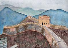 La grande muraille par PaintingAdventure sur Etsy