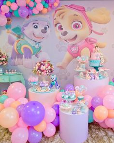 Image may contain: 2 people Sky Paw Patrol, Paw Patrol Party, Paw Patrol Birthday Girl, Baby Girl Birthday, Sky E, 1 Year Old Birthday Party, Amarillis, Birthday Party Decorations Diy, Rainbow Parties