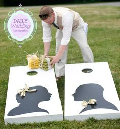 Give guests something fun to do during the wedding cocktail hour.
