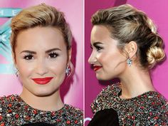 Demi's twisted updo stole the show at the Season 2 Premiere of The X Factor