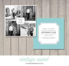 Square Save the Date Card / Magnet / Postcard (Printable DIY) by Vintage Sweet Design On Etsy  {$12.00}   vintagesweetdesign.etsy.com