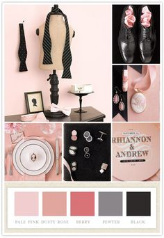 perfect pink and gray/black...bathroom scheme #workingwithwhatIgot