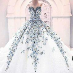 Blue springtime blooming gown