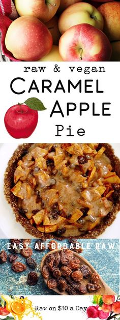 Caramel Apple Pie Raw Vegan Recipe Healthy and Delicious Recipe for the Holidays Plant-Based Raw Food PIN IT Raw Vegan RecipesSalted Caramel Apple Pie (Vegan)Vegan Apple Pie With StreuselVegan Recipes TofuSimple Vegan RecipesVegan Recipes Plant Based Desserts Crus, Raw Dessert Recipes, Raw Vegan Desserts, Raw Vegan Recipes, Whole Food Recipes, Healthy Recipes, Vegetarian Recipes, Dinner Recipes, Vegan Sweets