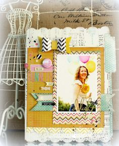 IN LOVE with this beauty by Heidi Swapp Media Team Member, Kim Jeffress. So lovely!