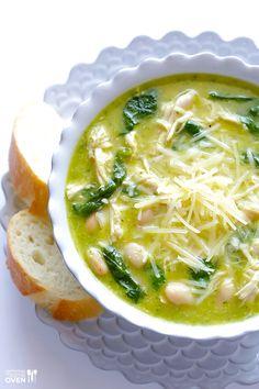 5-Ingredient Pesto Chicken Soup