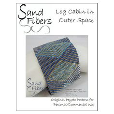 Peyote Pattern - Log Cabin in Outer Space Peyote Cuff / Bracelet  - A Sand Fibers For Personal/Commercial Use PDF Pattern. $10.00, via Etsy.