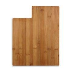 Totally Bamboo Utah State Shaped Cutting/Serving Board - BedBathandBeyond.com