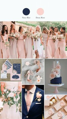 5 navy blue wedding ideas of early summer to stand out The 5 navy blue wedding ideas of early summer to stand out,The 5 navy blue wedding ideas of early summer to stand out, Navy blue and blush pink wedding color palet. Pink Color Schemes, Wedding Color Schemes, Wedding Colour Palettes, Color Palettes, Wedding Motif Color, Wedding Color Pallet, Dusty Rose Wedding, Wedding Blue, Trendy Wedding