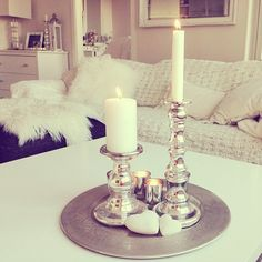 #myhome #interior #silvertray #candles ✨