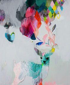 Deer painting by miranda skoczek