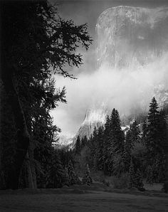 El Capitan by Ansel Adams We've had this photo framed and hung in my house as long as I can remember.