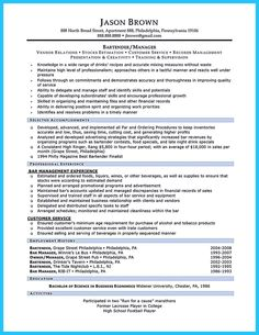 Best Bartender Resume New The Art Of Writing A Great Resume Summary Statement  Resumeme .