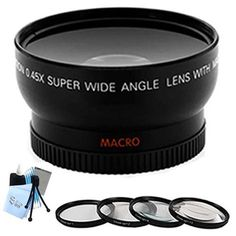 Introducing SaveOn Professional HD Wide Angle Lens w Adapter  Macro CloseUp Filter Set  Complete Lens Cleaning Kit w Microfiber Cleaning Cloth for Canon G5 G6 Digital Cameras. Great Product and follow us to get more updates!