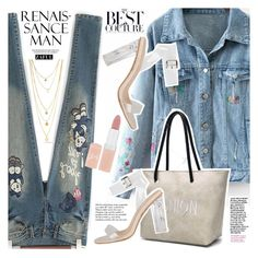 """Denim Patchwork"" by vanjazivadinovic ❤ liked on Polyvore featuring Tiffany & Co., Rimmel, polyvoreeditorial and zaful"