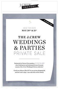 j crew weddings