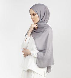 Charcoal Modal Hijab - £15.90 : Inayah, Islamic Clothing & Fashion, Abayas, Jilbabs, Hijabs, Jalabiyas & Hijab Pins