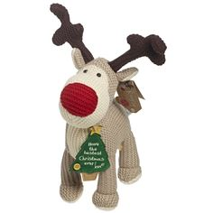 """Meet Boofles friend Roofle the Reindeer.    Make Christmas special by giving this lovely reindeer to someone special    Free standing Roofle with Christmas tree tag wording """"have the best Christmas ever!!x"""" £14.99"""