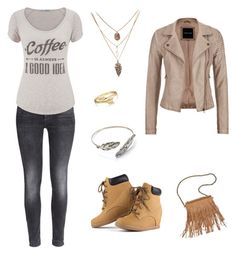 """""""Cute in tan"""" by ncp274 on Polyvore featuring H&M, maurices, Patchington and Bling Jewelry"""