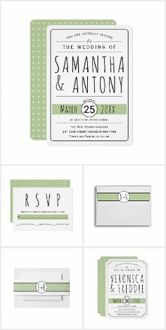 Modern typography #wedding sage green collection